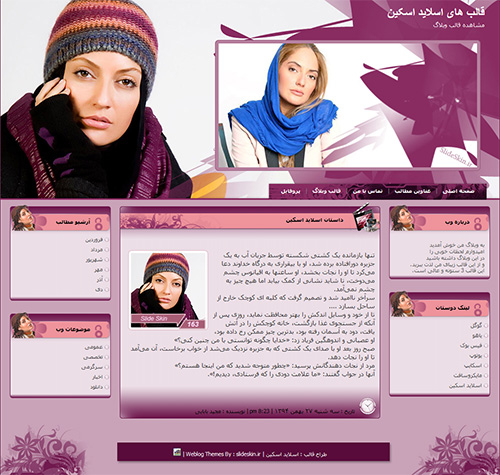 قالب وبلاگ مهناز افشار