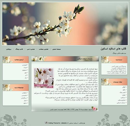 قالب وبلاگ شکوفه بهاری