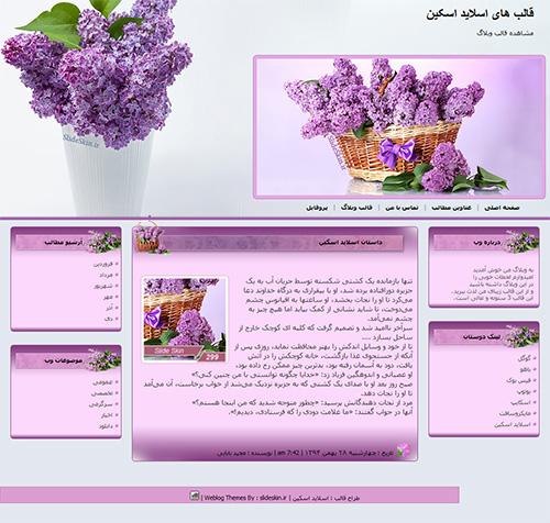 قالب وبلاگ گلدان سنبل
